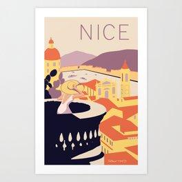 Nice – Sunset Version Art Print