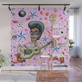 rockabilly bone daddy crush, pink blush orchid lilac rose Wall Mural