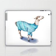 Llama in a Blue Sweater Laptop & iPad Skin