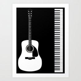 Guitar Piano Duo Art Print