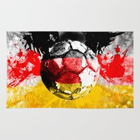 germany Area & Throw Rugs featuring  football germany by seb mcnulty