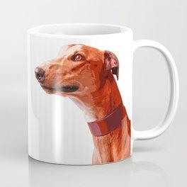 Orange Greyhound. Pop art dog portrait Coffee Mug