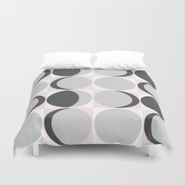 Gray Moon Cycle Duvet Cover