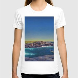 Classical Masterpiece 'Maine Lobsterman' by Rockwell Kent T-shirt