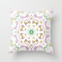 tye dye Throw Pillows featuring Kaleidoscope Tye Dye  by Skrinkladado