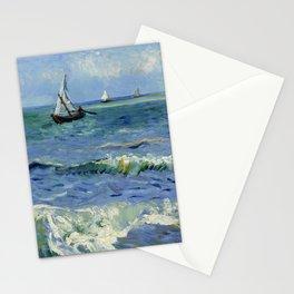 """Vincent Van Gogh """"The Sea at Les Saintes-Maries-de-la-Mer"""" Stationery Cards"""