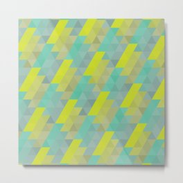 Geometric shingles pattern Metal Print