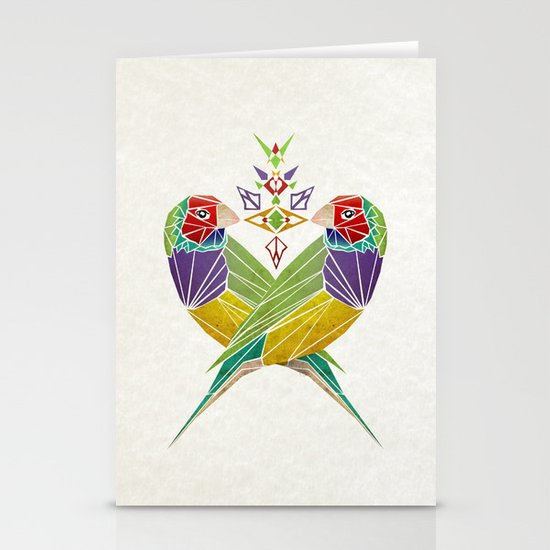 colors birds Stationery Cards