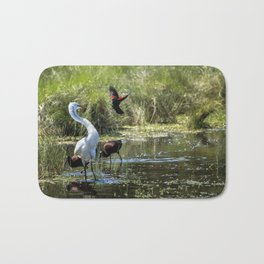 The Ibis Ignore the High Drama at the Pond Bath Mat