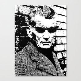 Samuel Beckett Rocking a Pair of Oakley Sunglasses Canvas Print