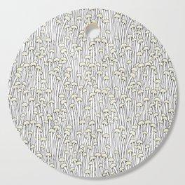 Enokitake Mushrooms (pattern) Cutting Board