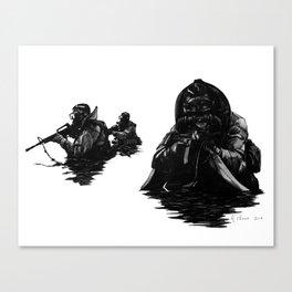 Combat Diver Canvas Print