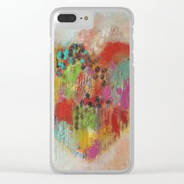 Colorful Heart Clear iPhone Case