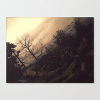 college Canvas Prints featuring College by Cathartic Clouds