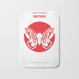 No391 My Mothra minimal movie poster Bath Mat