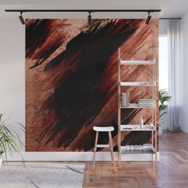 rose gold, black paint Wall Mural