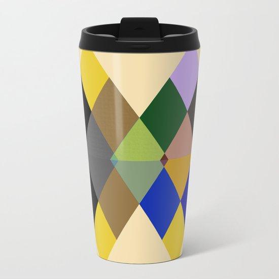 Abstract #712 Metal Travel Mug