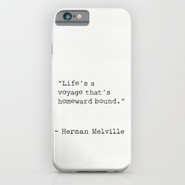 Herman Melville quote 13 iPhone Case