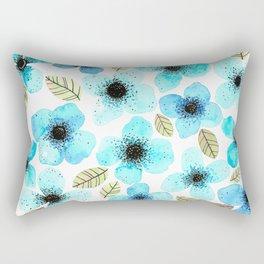 Lilly Blue Rectangular Pillow
