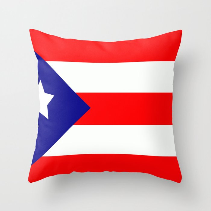 Flag of Puerto Rico Throw Pillow