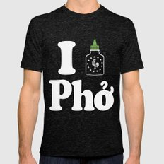 I Heart Pho Tri-Black Mens Fitted Tee LARGE