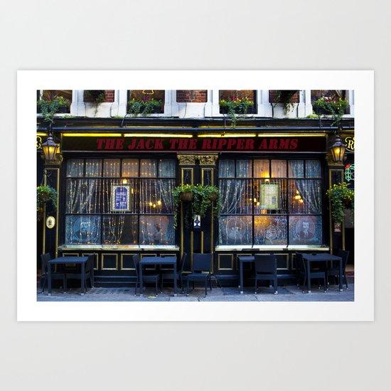 The Jack the Ripper Pub  Art Print