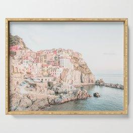 Positano, Italy Amalfi Coast Romantic Photography Serving Tray
