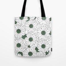 Daisy Mint Tote Bag