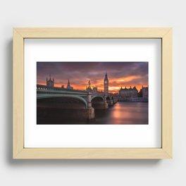 London's burning sky Recessed Framed Print