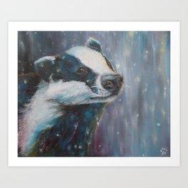 One Snowy Night Art Print