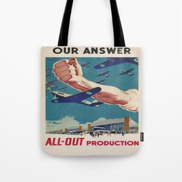 Vintage poster - All-Out Production Tote Bag