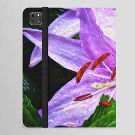 Lilies On Black Background iPad Folio Case