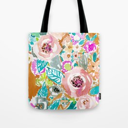 SO LUSCIOUS Colorful Abstract Floral Tote Bag