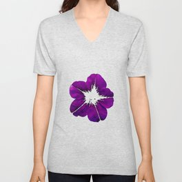 Purple Geranium Unisex V-Neck