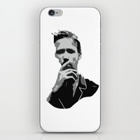 ryan gosling iPhone & iPod Skins featuring Ryan Gosling by Harry Martin