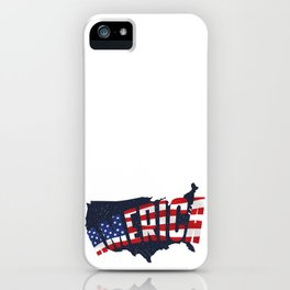 4th Of July Independence Day American Flag & Map iPhone Case