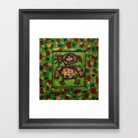 The Green Parrot Framed Art Print