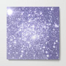 Galaxy Sparkle Dark Lavender Metal Print