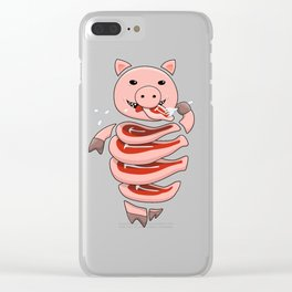 Gluttonous Cannibal Pig Clear iPhone Case