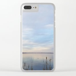 Twilight Serenity - Clouds and reflections on University Bay Clear iPhone Case
