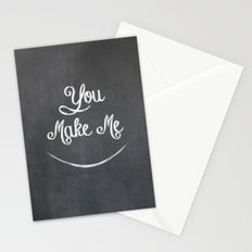 You Make Me Smile - Chalkboard Stationery Cards