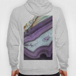 Purple Agate Slice Hoody