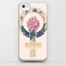 Respect, equality, women's liberation. Feminism Power Fist / Raised Fist Slim Case iPhone 5c