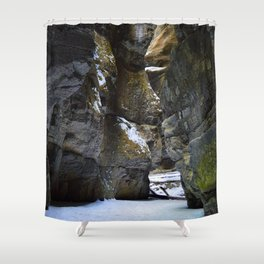In the depths of Maligne Canyon, Canada Shower Curtain