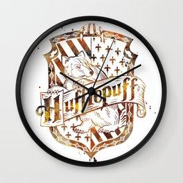Hufflepuff Crest Wall Clock