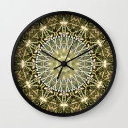 Geometric Forest Mandala Wall Clock