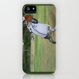 Baseball Catcher Kitten iPhone Case