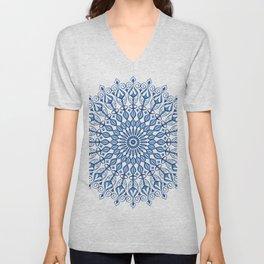 Blue Mandala Unisex V-Neck