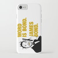 bond iPhone & iPod Cases featuring Word is bond. James Bond. by Chris Piascik