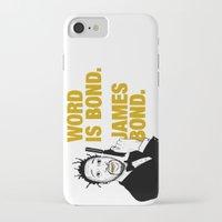 james bond iPhone & iPod Cases featuring Word is bond. James Bond. by Chris Piascik